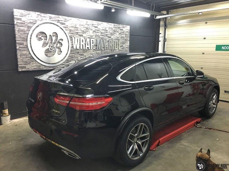 Mercedes GLC matte metallic brown, Carwrapping door Wrapmyride.nu Foto-nr:9569, ©2018
