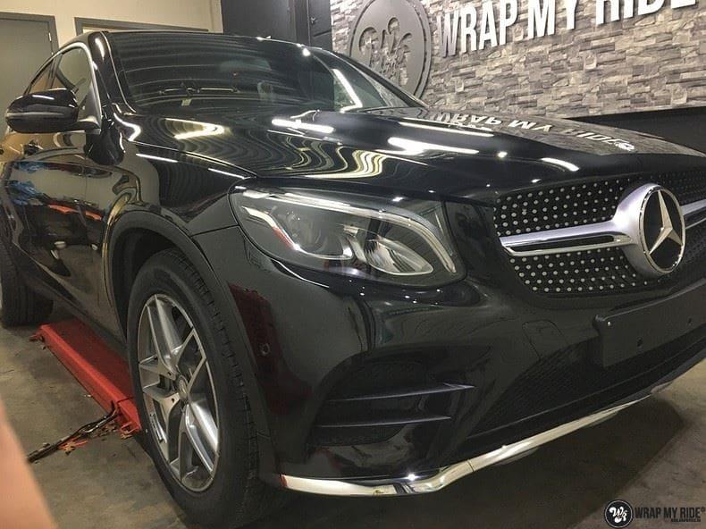 Mercedes GLC matte metallic brown, Carwrapping door Wrapmyride.nu Foto-nr:9570, ©2018