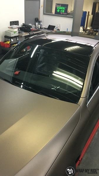 Mercedes GLC matte metallic brown, Carwrapping door Wrapmyride.nu Foto-nr:9565, ©2018