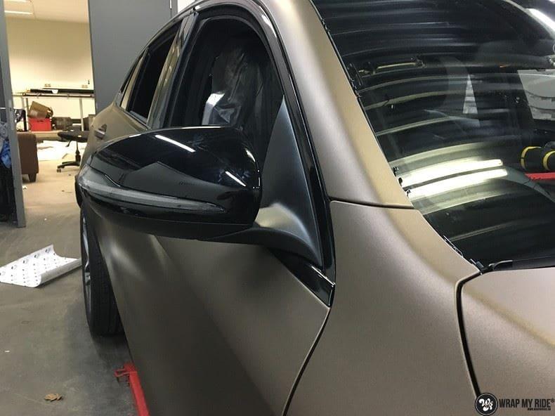 Mercedes GLC matte metallic brown, Carwrapping door Wrapmyride.nu Foto-nr:9560, ©2018