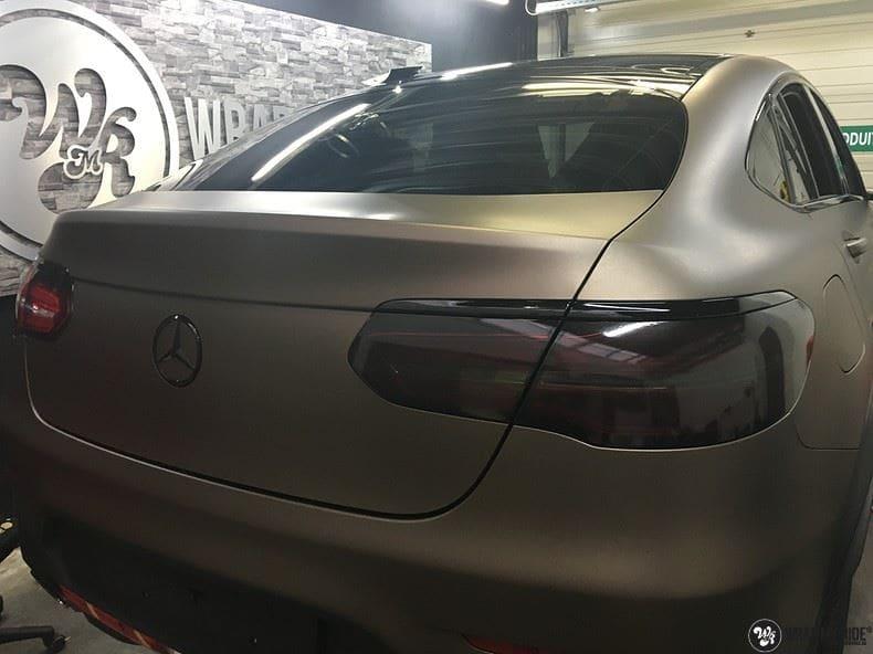 Mercedes GLC matte metallic brown, Carwrapping door Wrapmyride.nu Foto-nr:9555, ©2018