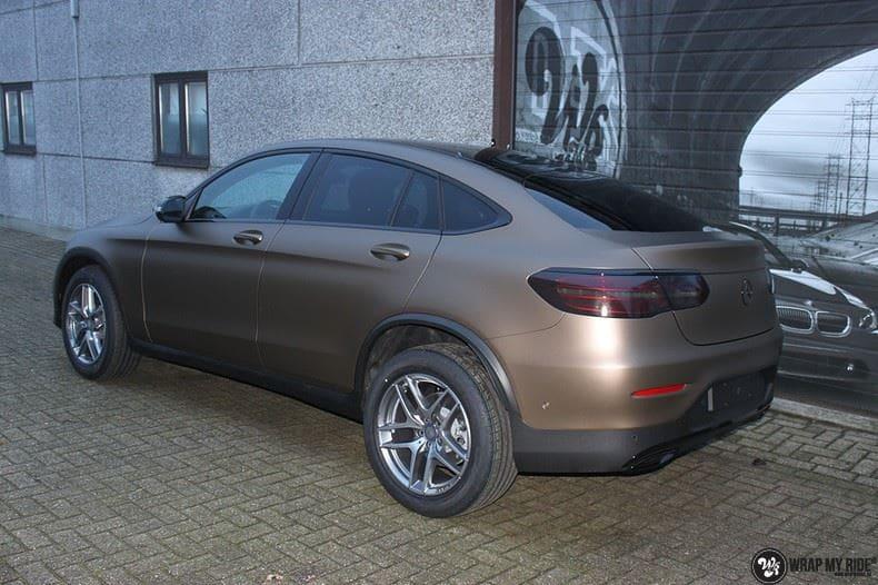 Mercedes GLC matte metallic brown, Carwrapping door Wrapmyride.nu Foto-nr:9551, ©2018