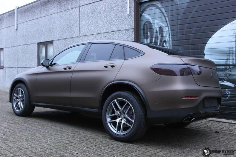 Mercedes GLC matte metallic brown, Carwrapping door Wrapmyride.nu Foto-nr:9549, ©2018