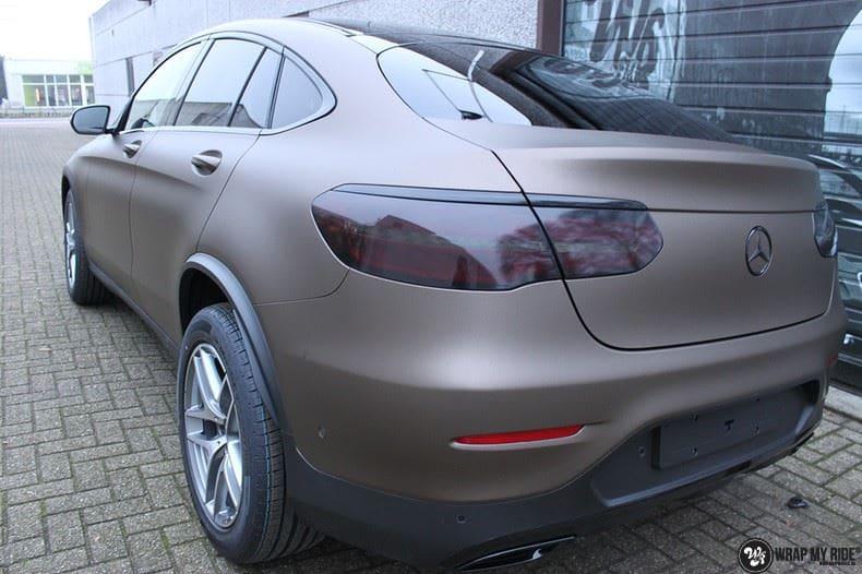Mercedes GLC matte metallic brown, Carwrapping door Wrapmyride.nu Foto-nr:9548, ©2018