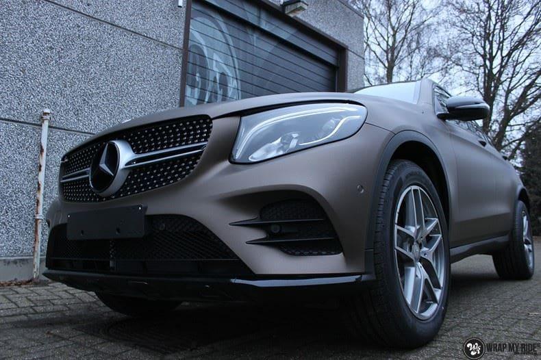 Mercedes GLC matte metallic brown, Carwrapping door Wrapmyride.nu Foto-nr:9545, ©2018