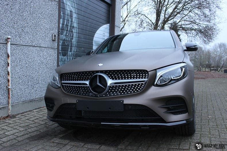 Mercedes GLC matte metallic brown, Carwrapping door Wrapmyride.nu Foto-nr:9544, ©2018