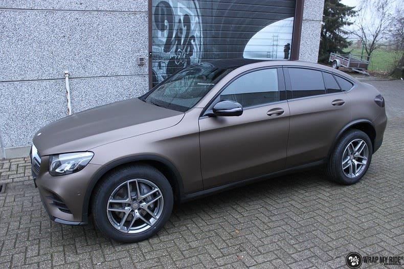 Mercedes GLC matte metallic brown, Carwrapping door Wrapmyride.nu Foto-nr:9542, ©2018