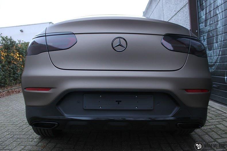 Mercedes GLC matte metallic brown, Carwrapping door Wrapmyride.nu Foto-nr:9539, ©2018