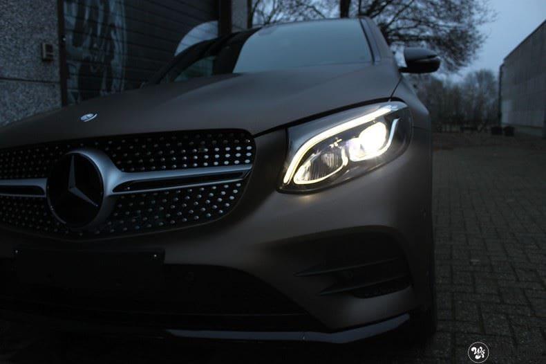 Mercedes GLC matte metallic brown, Carwrapping door Wrapmyride.nu Foto-nr:9534, ©2018