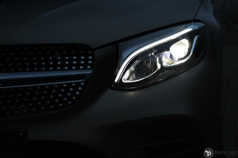 Mercedes GLC matte metallic brown, Carwrapping door Wrapmyride.nu Foto-nr:9533, ©2018