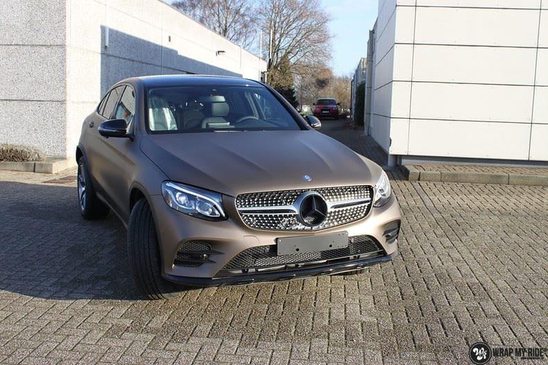 Mercedes GLC matte metallic brown, Carwrapping door Wrapmyride.nu Foto-nr:9528, ©2018