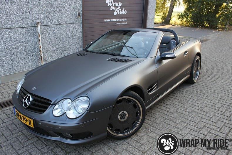 Mercedes SL 55AMG, Carwrapping door Wrapmyride.nu Foto-nr:7960, ©2017