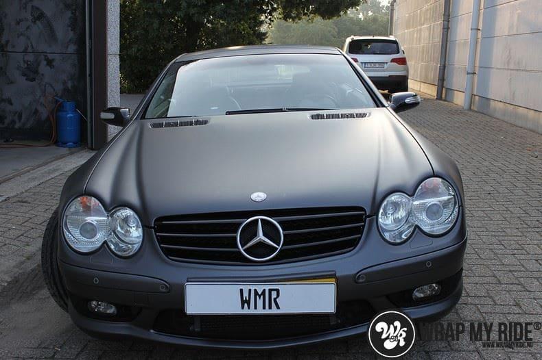 Mercedes SL 55AMG, Carwrapping door Wrapmyride.nu Foto-nr:7981, ©2017