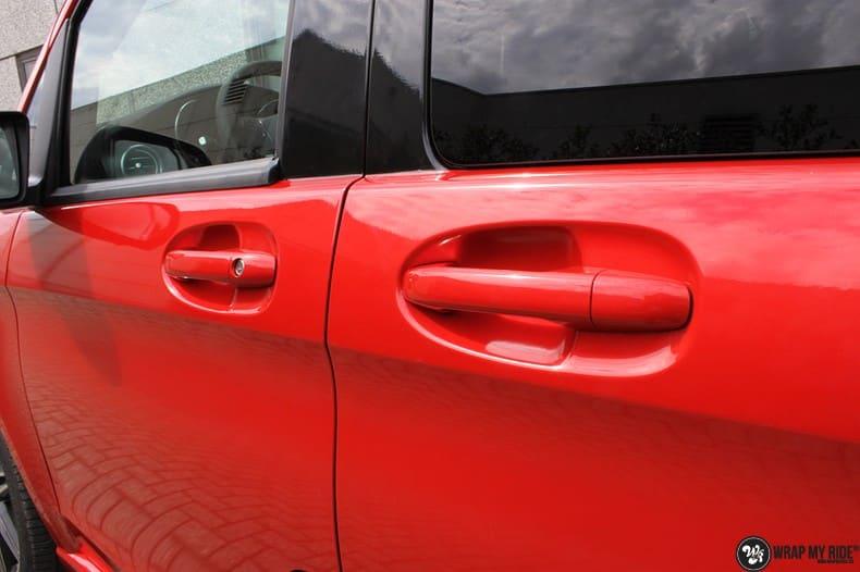 Mercedes V-klasse AMG Dragon fire red, Carwrapping door Wrapmyride.nu Foto-nr:9885, ©2017