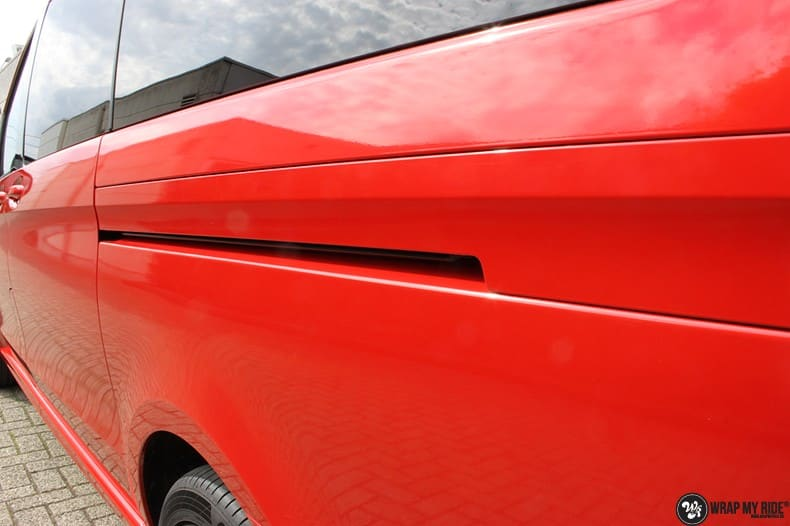 Mercedes V-klasse AMG Dragon fire red, Carwrapping door Wrapmyride.nu Foto-nr:9884, ©2017