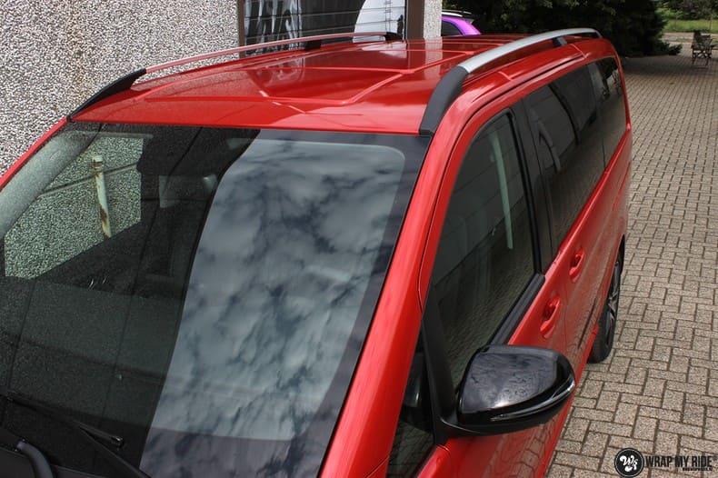 Mercedes V-klasse AMG Dragon fire red, Carwrapping door Wrapmyride.nu Foto-nr:9880, ©2017