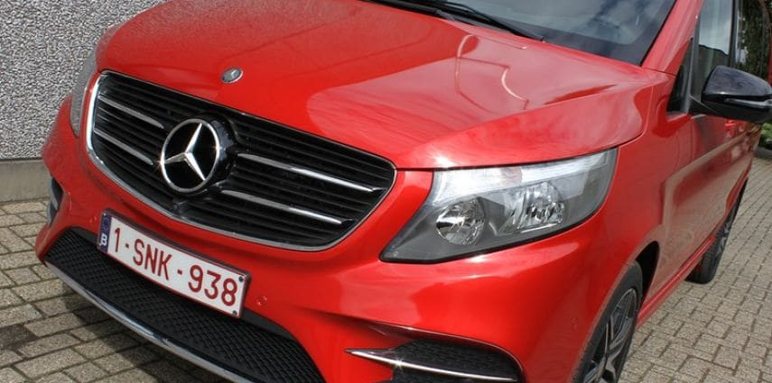 Mercedes V-klasse AMG Dragon fire red