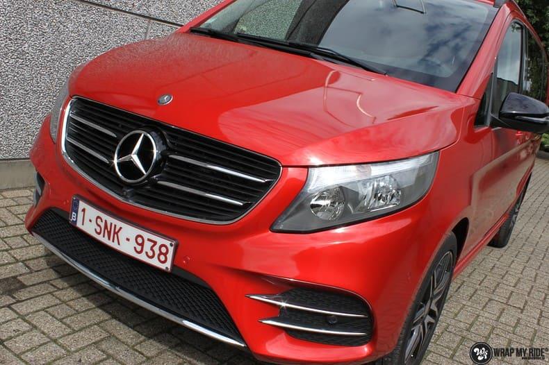 Mercedes V-klasse AMG Dragon fire red, Carwrapping door Wrapmyride.nu Foto-nr:9878, ©2017