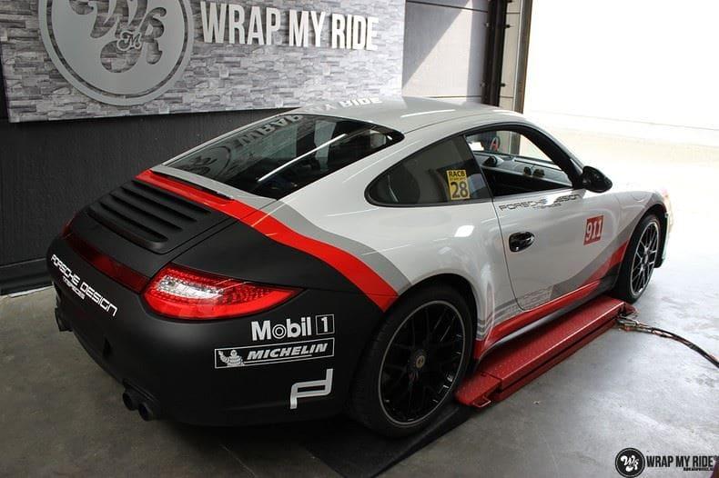 Porsche 911 RSR look, Carwrapping door Wrapmyride.nu Foto-nr:9765, ©2017