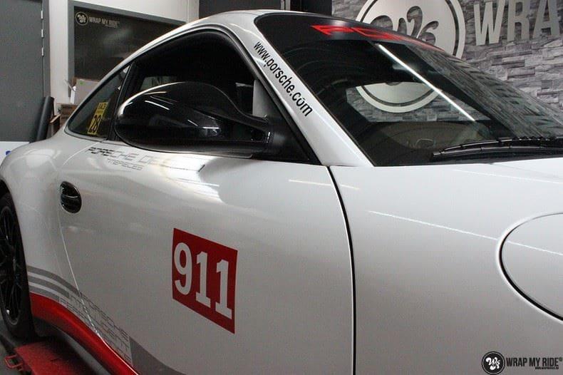 Porsche 911 RSR look, Carwrapping door Wrapmyride.nu Foto-nr:9771, ©2017