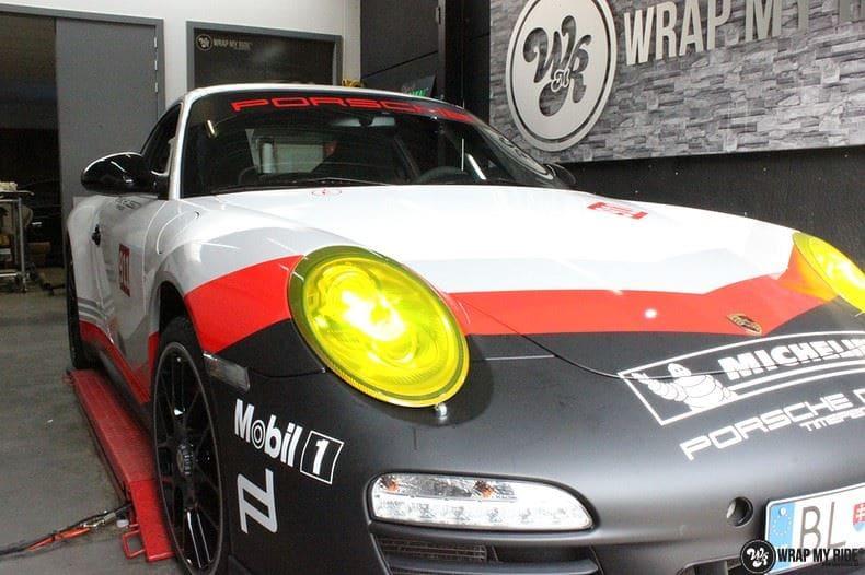 Porsche 911 RSR look, Carwrapping door Wrapmyride.nu Foto-nr:9772, ©2017