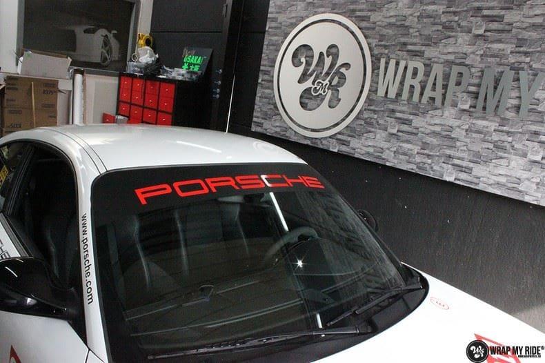 Porsche 911 RSR look, Carwrapping door Wrapmyride.nu Foto-nr:9773, ©2017