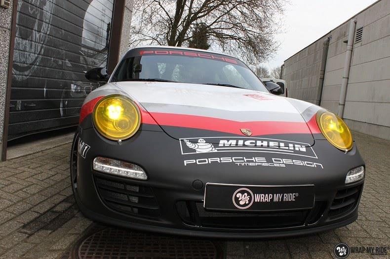 Porsche 911 RSR look, Carwrapping door Wrapmyride.nu Foto-nr:9774, ©2017
