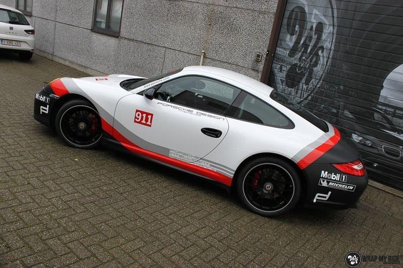 Porsche 911 RSR look, Carwrapping door Wrapmyride.nu Foto-nr:9776, ©2017