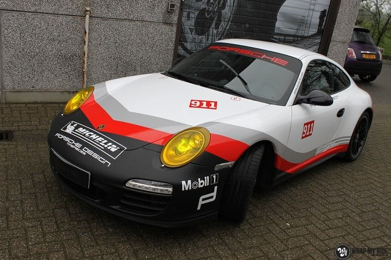 Porsche 911 RSR look, Carwrapping door Wrapmyride.nu Foto-nr:9777, ©2017