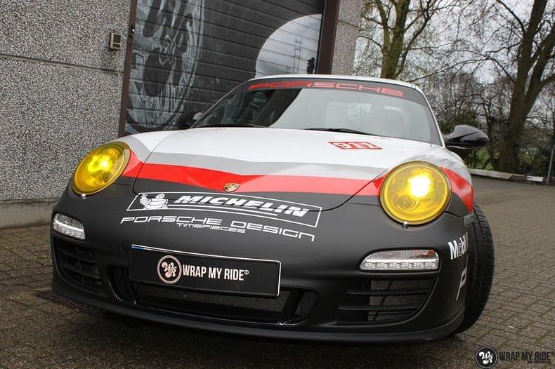 Porsche 911 RSR look, Carwrapping door Wrapmyride.nu Foto-nr:9778, ©2017