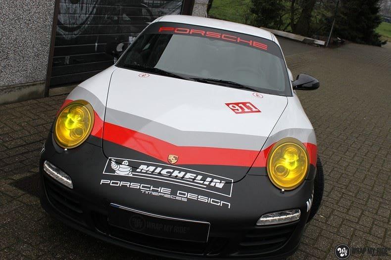 Porsche 911 RSR look, Carwrapping door Wrapmyride.nu Foto-nr:9780, ©2017
