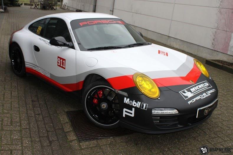 Porsche 911 RSR look, Carwrapping door Wrapmyride.nu Foto-nr:9781, ©2017
