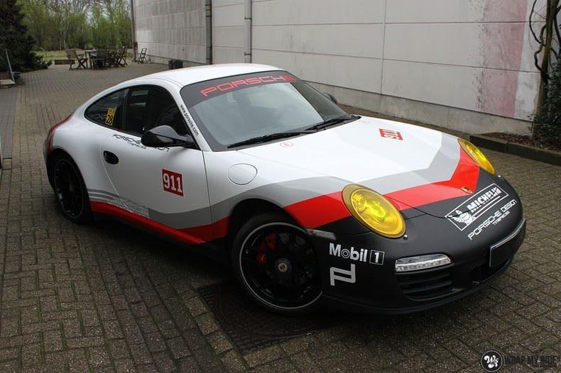 Porsche 911 RSR look, Carwrapping door Wrapmyride.nu Foto-nr:9782, ©2017