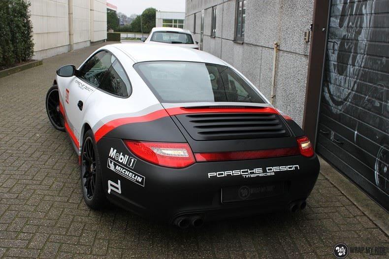 Porsche 911 RSR look, Carwrapping door Wrapmyride.nu Foto-nr:9783, ©2017
