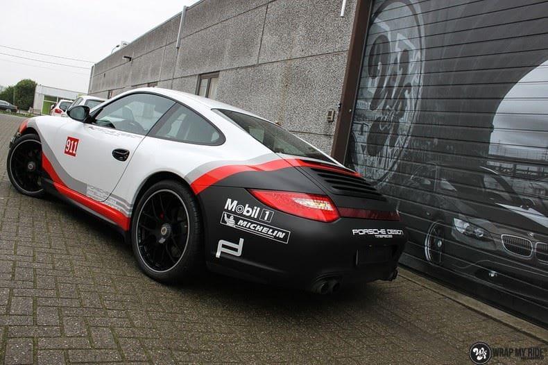 Porsche 911 RSR look, Carwrapping door Wrapmyride.nu Foto-nr:9784, ©2017