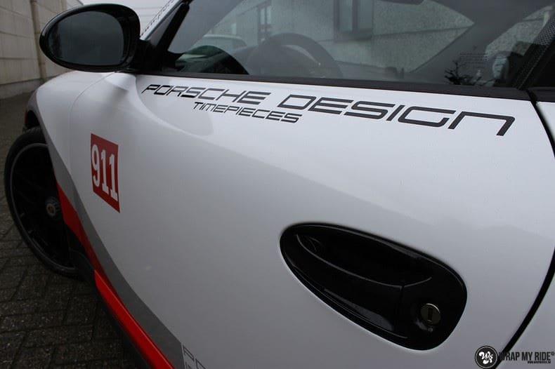 Porsche 911 RSR look, Carwrapping door Wrapmyride.nu Foto-nr:9788, ©2017