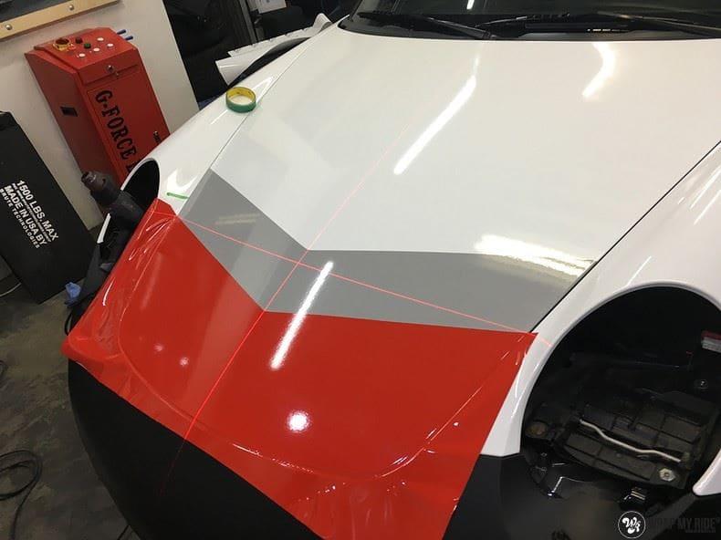 Porsche 911 RSR look, Carwrapping door Wrapmyride.nu Foto-nr:9792, ©2017