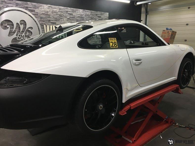 Porsche 911 RSR look, Carwrapping door Wrapmyride.nu Foto-nr:9794, ©2017