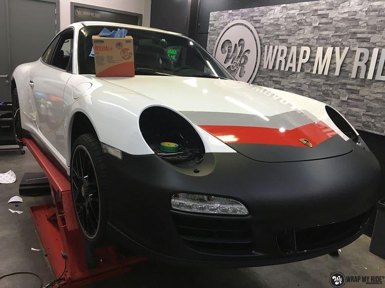 Porsche 911 RSR look, Carwrapping door Wrapmyride.nu Foto-nr:9796, ©2017