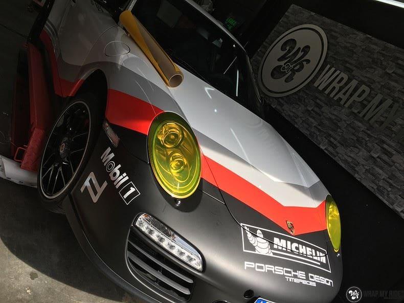 Porsche 911 RSR look, Carwrapping door Wrapmyride.nu Foto-nr:9806, ©2017