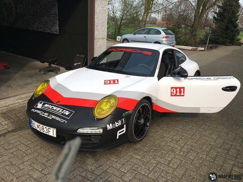 Porsche 911 RSR look, Carwrapping door Wrapmyride.nu Foto-nr:9808, ©2017