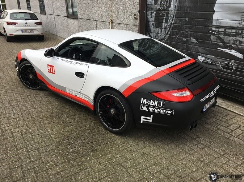 Porsche 911 RSR look, Carwrapping door Wrapmyride.nu Foto-nr:9813, ©2017