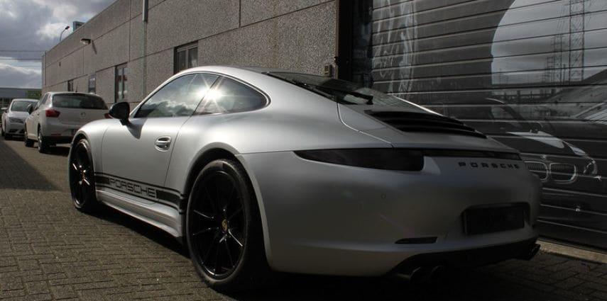 Porsche 997 Satin White Aluminium