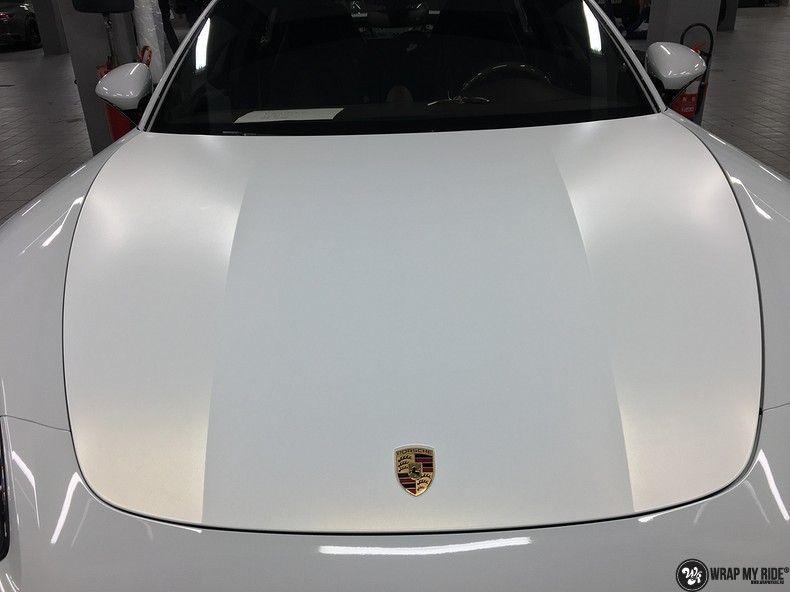 Porsche Panamera 4S Satin Frozen Vanilla, Carwrapping door Wrapmyride.nu Foto-nr:10553, ©2018