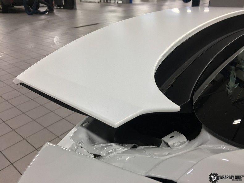Porsche Panamera 4S Satin Frozen Vanilla, Carwrapping door Wrapmyride.nu Foto-nr:10552, ©2018