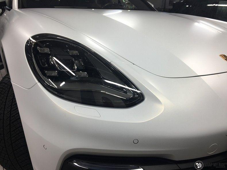 Porsche Panamera 4S Satin Frozen Vanilla, Carwrapping door Wrapmyride.nu Foto-nr:10544, ©2018
