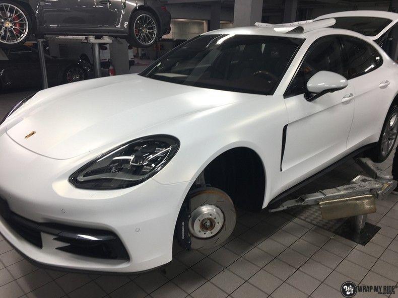 Porsche Panamera 4S Satin Frozen Vanilla, Carwrapping door Wrapmyride.nu Foto-nr:10541, ©2018