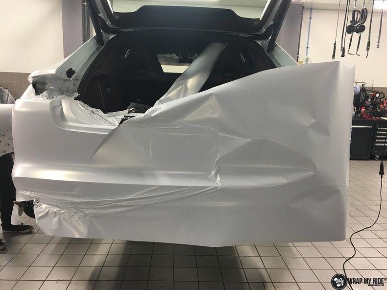 Porsche Panamera 4S Satin Frozen Vanilla, Carwrapping door Wrapmyride.nu Foto-nr:10537, ©2018
