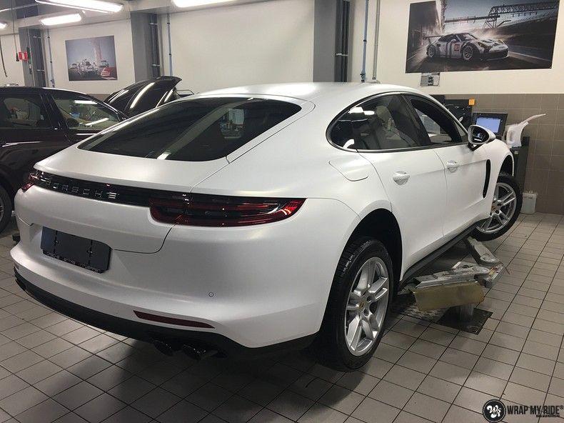 Porsche Panamera 4S Satin Frozen Vanilla, Carwrapping door Wrapmyride.nu Foto-nr:10522, ©2018