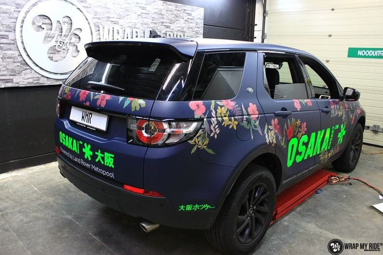 Range Rover Discovery Flower, Carwrapping door Wrapmyride.nu Foto-nr:8791, ©2017